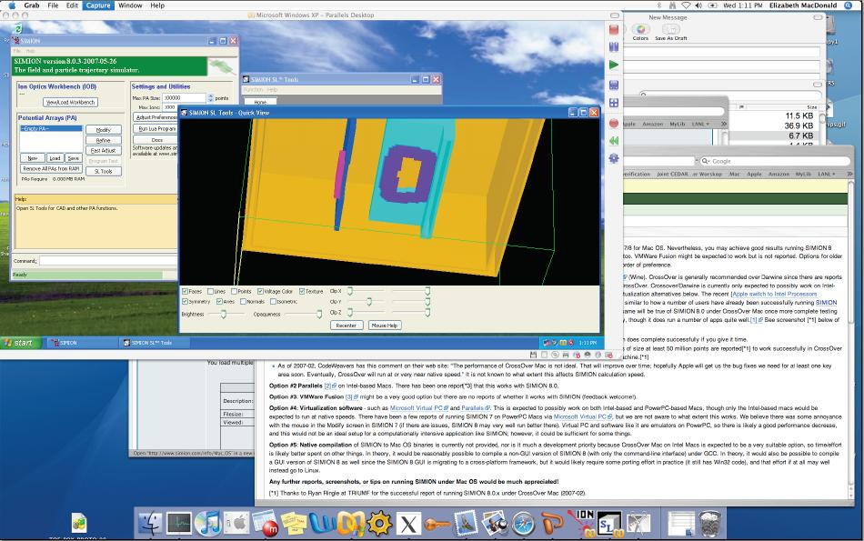 Mac OS — SIMION 2019 Supplemental Documentation